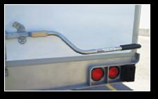 Trailer lock power lever