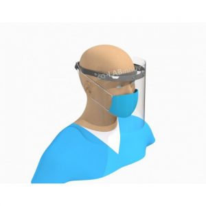 Single visor for the head or for construction helmet