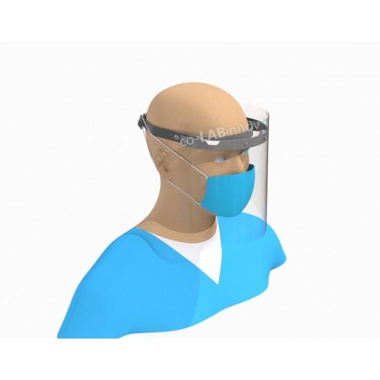 Single visor for the head or for construction helmet